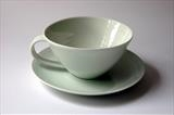 teacup and saucer by Daniel Smith, Ceramics, porcelain